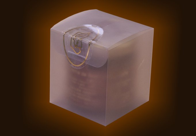 Glazed cube cream jar gr. 100
