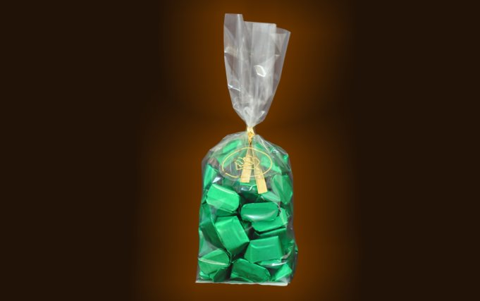 Transparent bag containing 300 gr little gianduiotto.